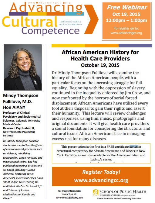 African American History For Health Care Providers Structural