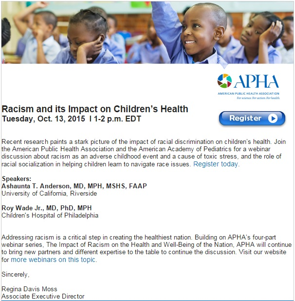 Racism and Impact on Children's Health